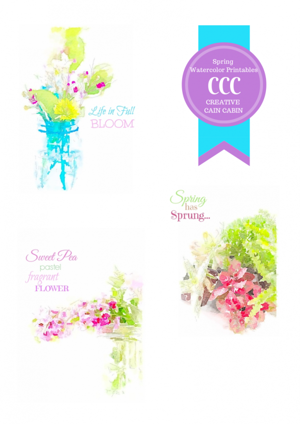 Spring Watercolor Printable Collection
