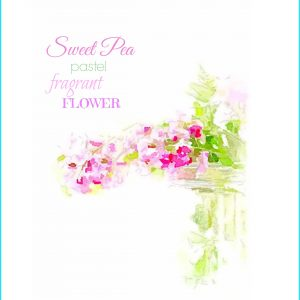 Sweet Pea Watercolor Printable