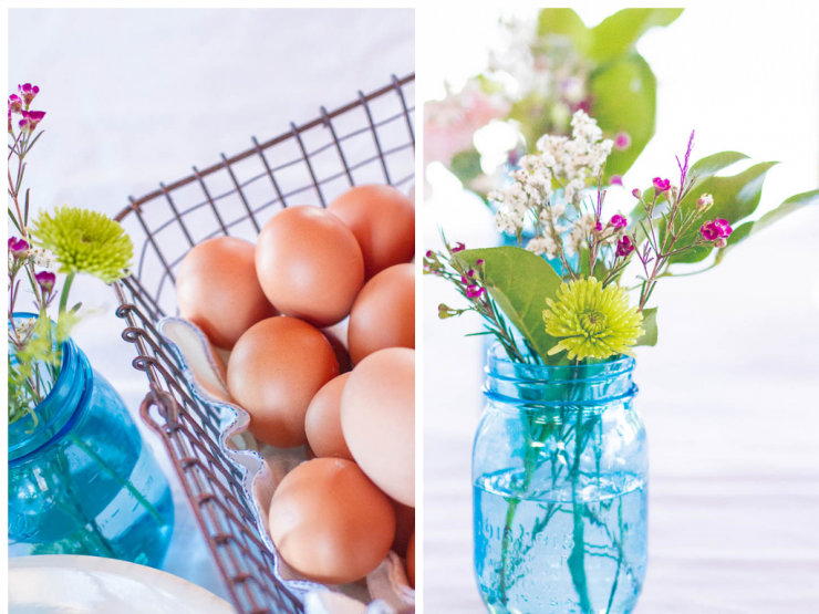 Spring Flower and Farm Fresh Eggs