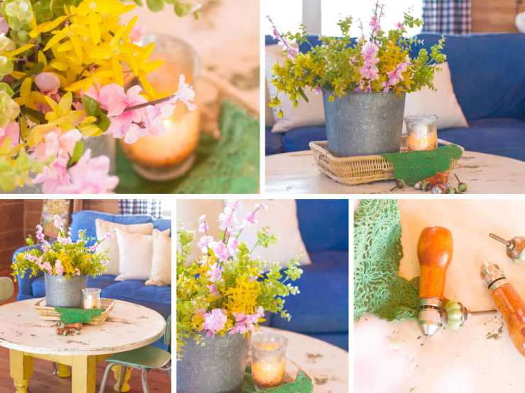 Spring Flowers on the Coffee Table