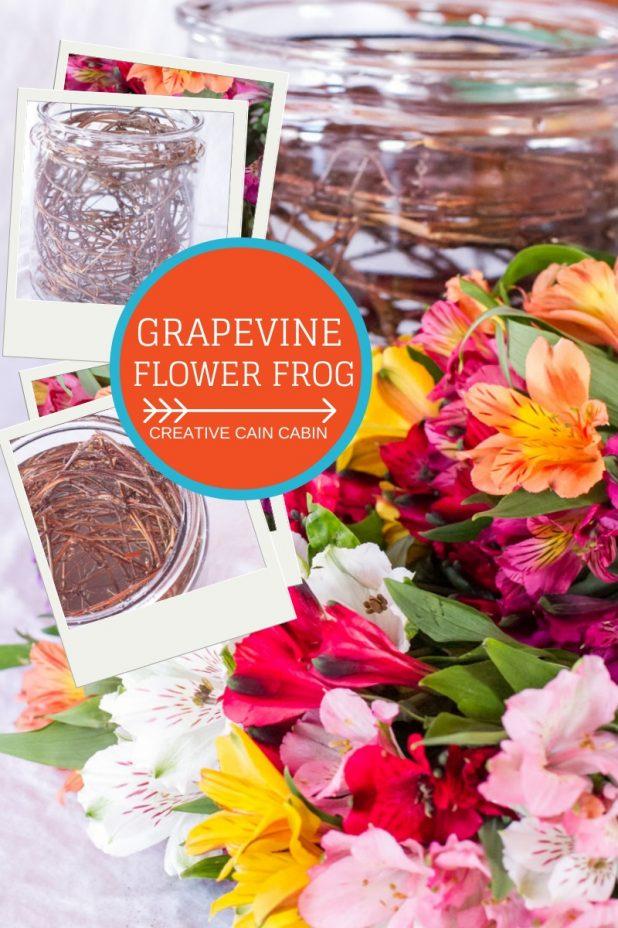 Easy to Make Oversized Grapevine Flower Frog