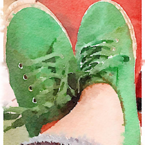 Green Sneakers ~ Waterlogue App
