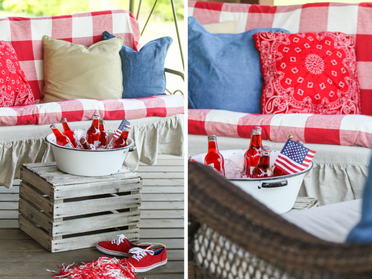 Patriotic Porch | Red, White, & Blue | Old Glory | Freedom | July 4th | Creative Cain Cabin