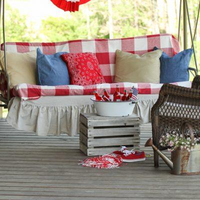 Red White & Blue Porch Decor