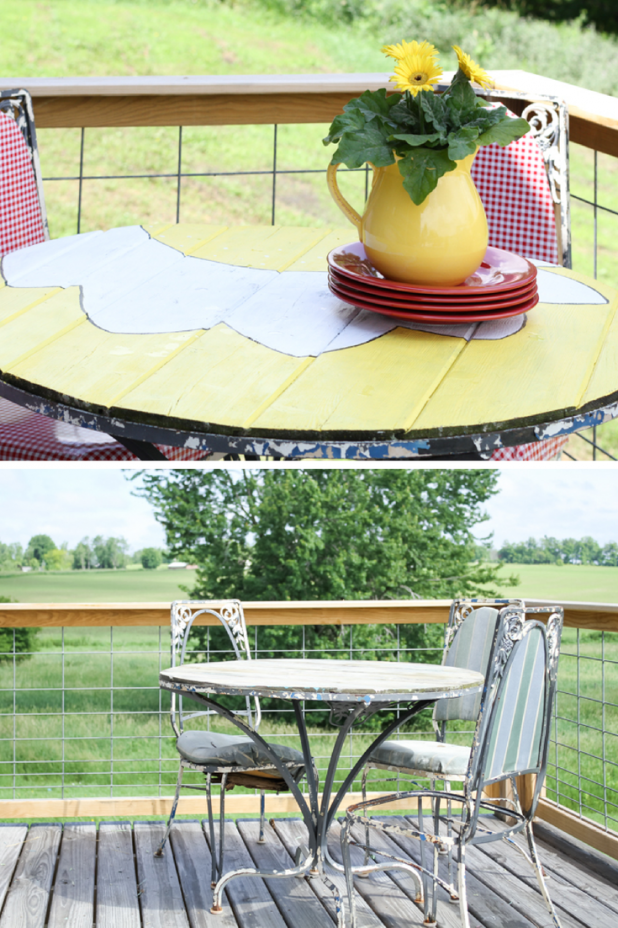 Before and After Daisy Table Makeover   DIY   Creative Cain Cabin