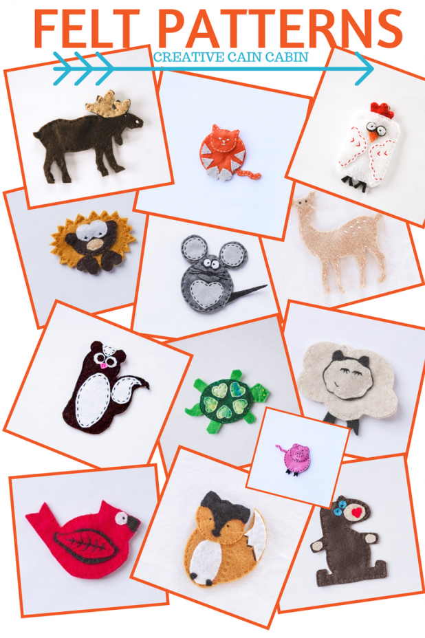 Felt Patterns Available for Download | FREE | Creative Cain Cabin