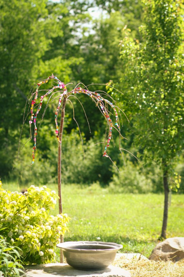 Garden Art |Bead Project |Weeping Cherry | Creative Cain Cabin