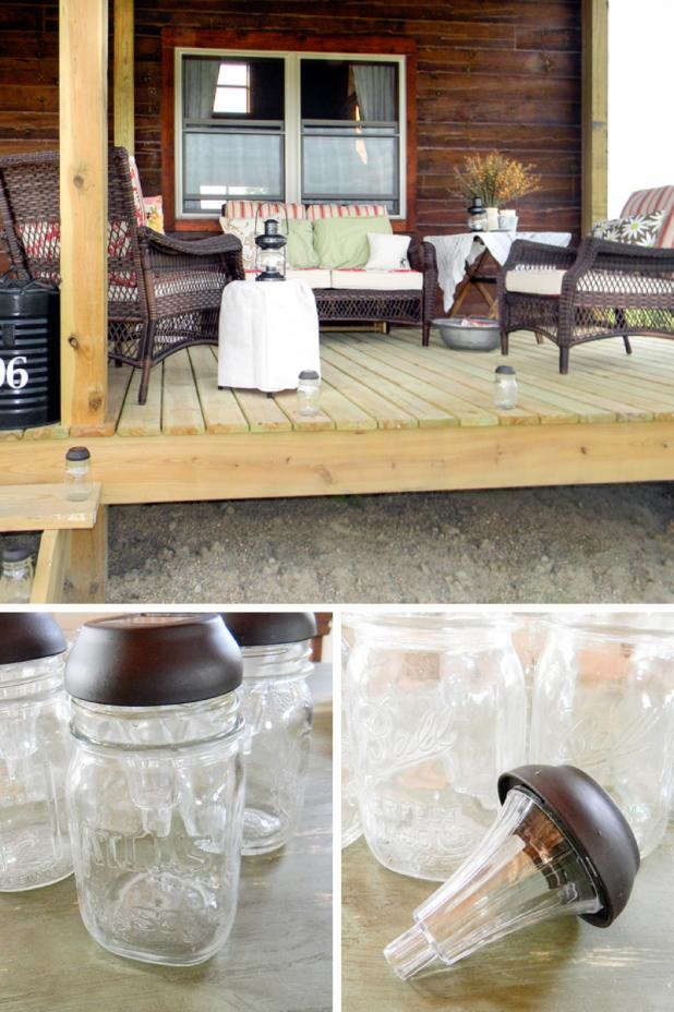 DIY Solar Mason Jar Lights | Creative Cain Cabin