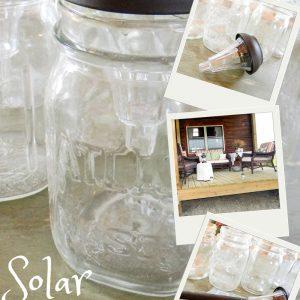 Solar Mason Jar Lights   DIY, All You Need Is A Hot Glue Gun   Creative Cain Cabin