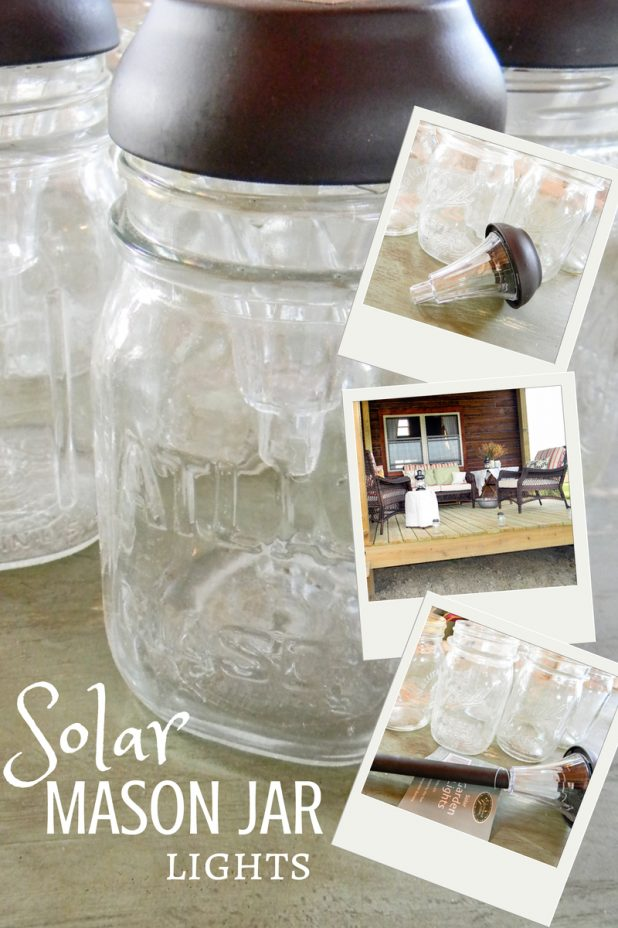 Solar Mason Jar Lights | DIY, All You Need Is A Hot Glue Gun | Creative Cain Cabin