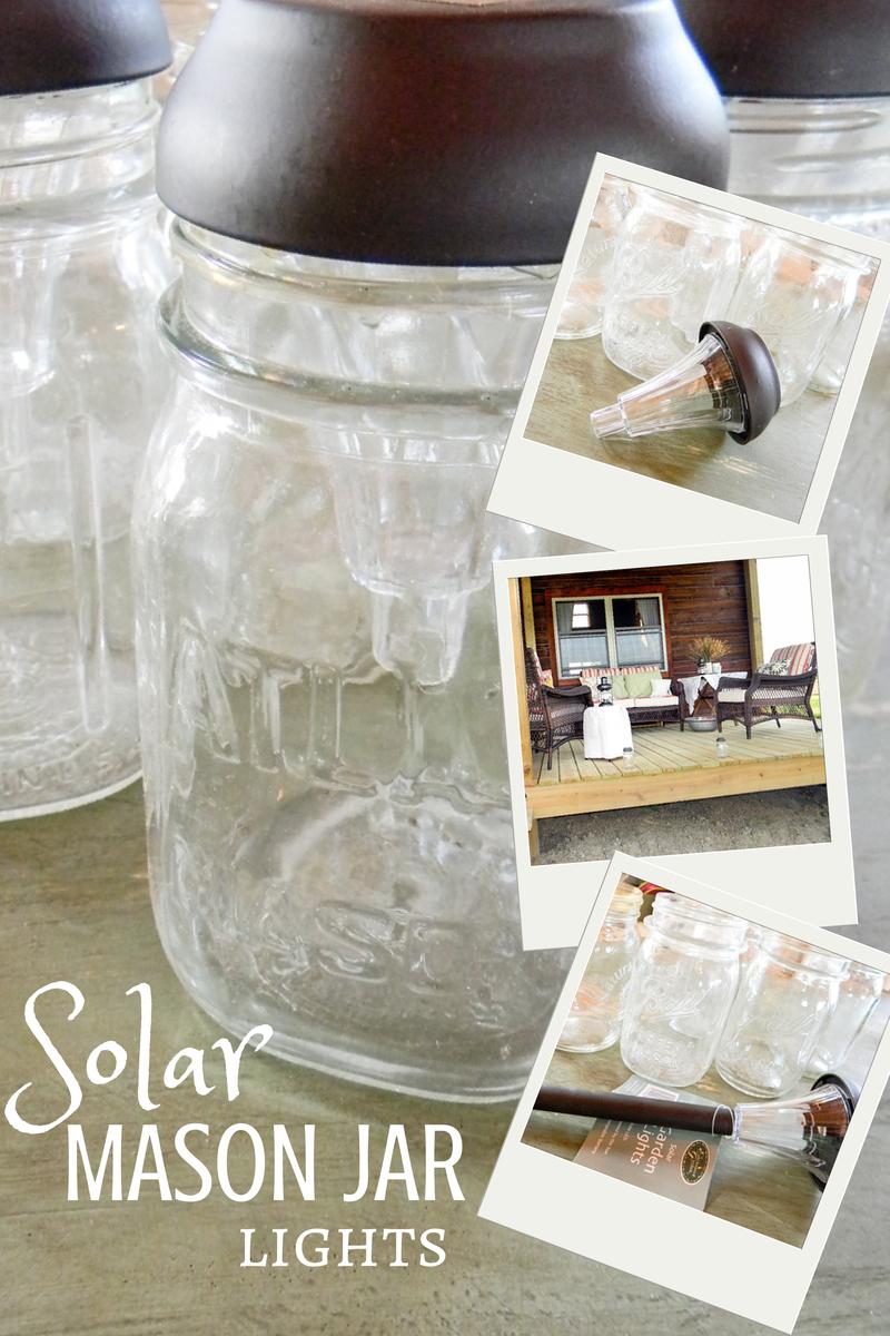 Solar Mason Jar Lights | DIY, All You Need Is A Hot Glue Gun | Creative Cain Cabin
