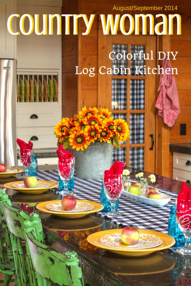 Colorful DIY Log Cabin Kitchen   Creative Cain Cabin