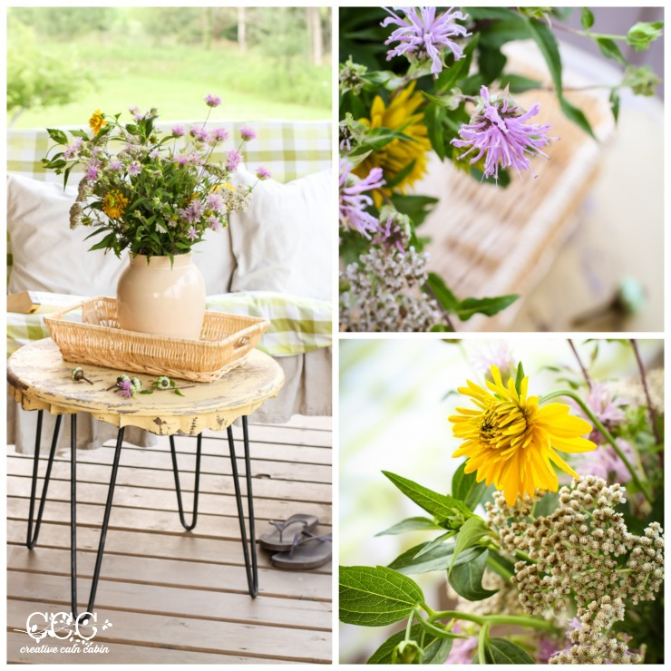 Decorating With Wildflowers   Wild Bee Balm   Summer Porch   Creative Cain Cabin
