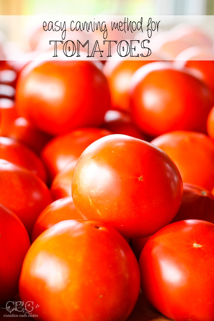 Easy Tomato Canning Method | Creative Cain Cabin