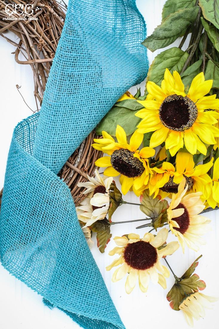 Easy DIY Fall Wreath | Creative Cain Cabin