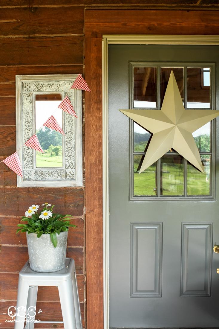 Kendall Charcoal Door | Creative Cain Cabin