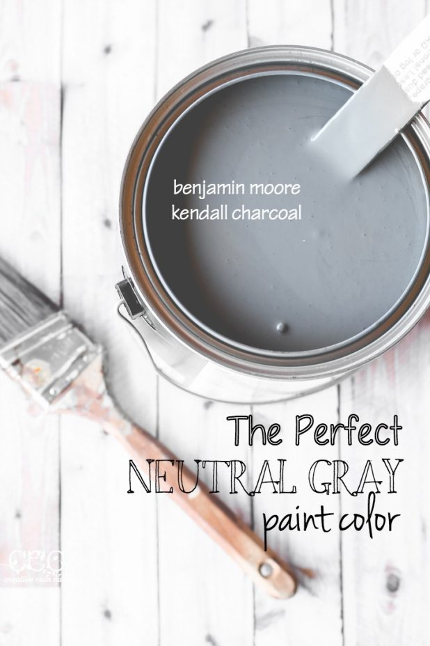 The Perfect Neutral Gray Paint Color |Creative Cain Cabin