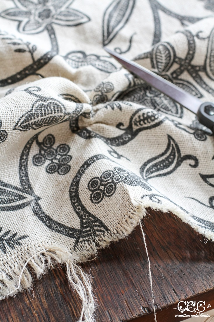 How to Cut Burlap | Creative Cain Cabin