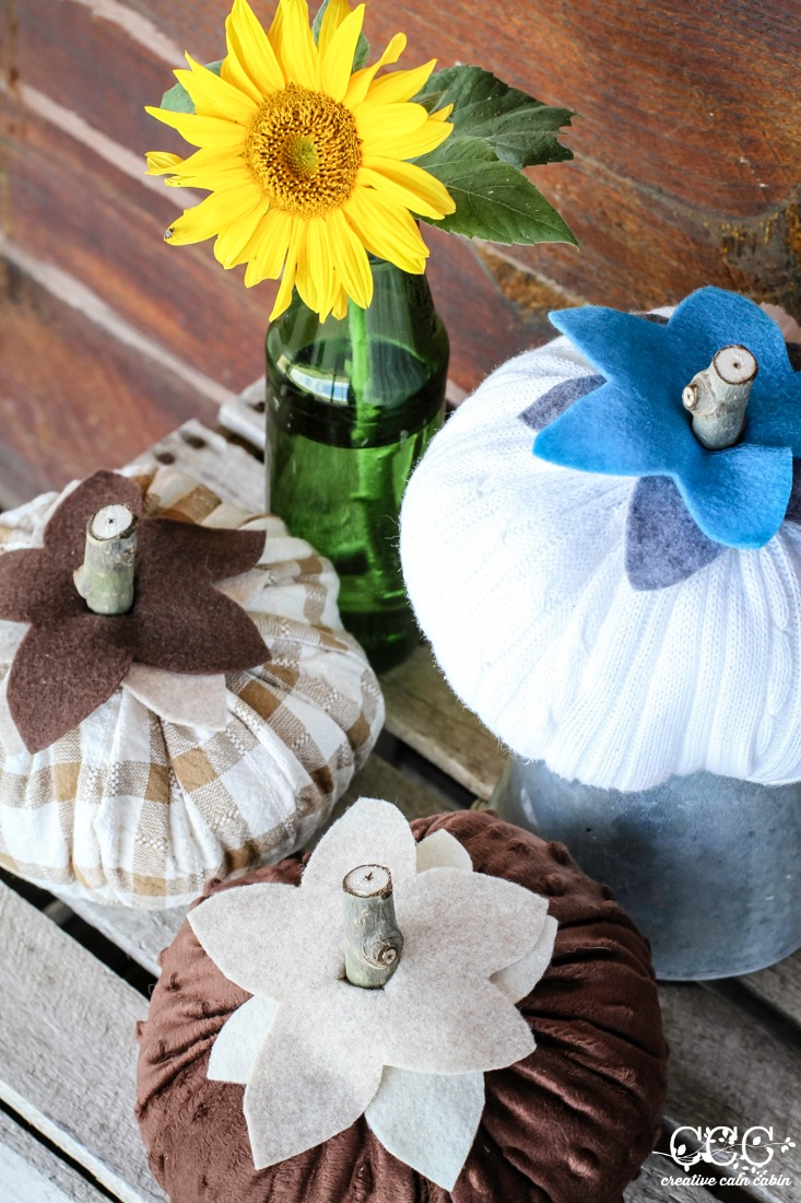 Fabric Pumpkin Pattern   Creative Cain Cabin