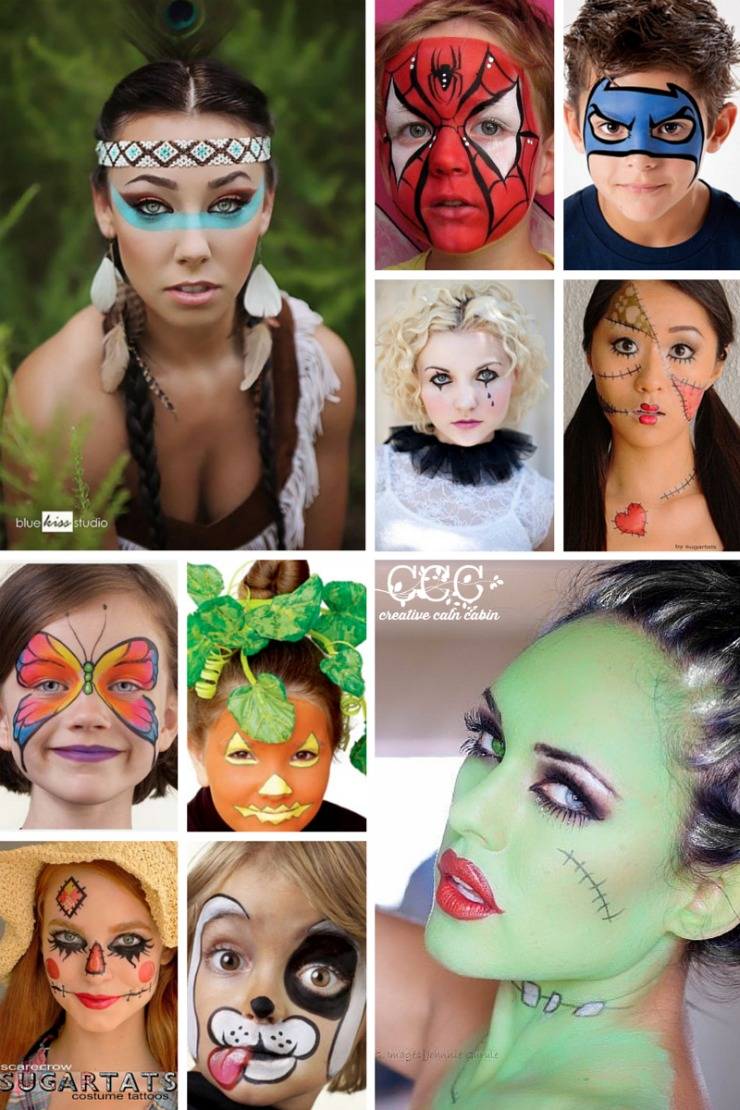 Easy Halloween Face Painting Ideas   Non Scary   Don't Need to Be an Artist to Create   Creative Cain Cabin