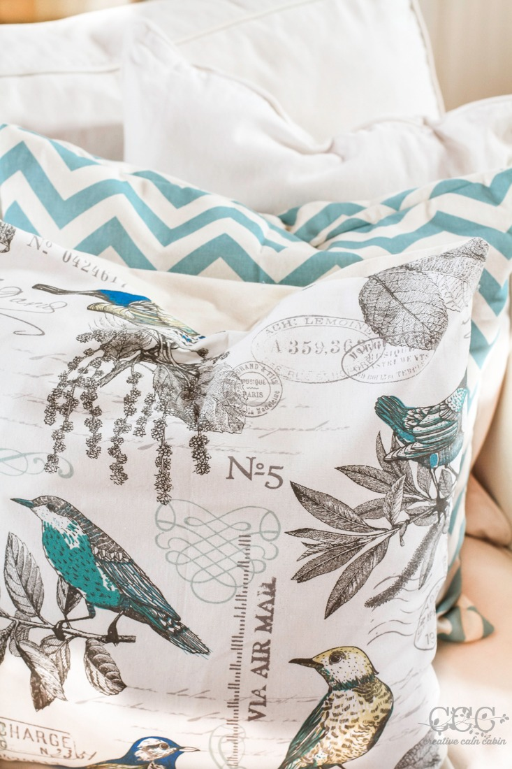 How to Save Money On Decorative Pillow Fabric | Creative Cain Cabin