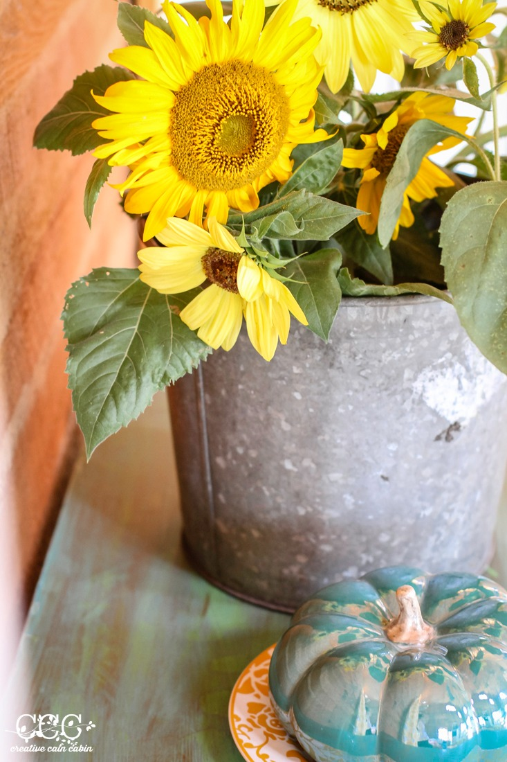 Sunflowers   Yellow & Turquoise   Creative Cain Cabin