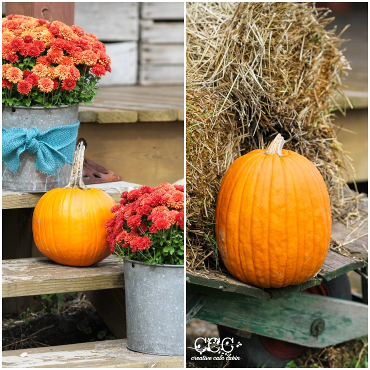 Fall Porch Decor | CreativeCainCabin.com