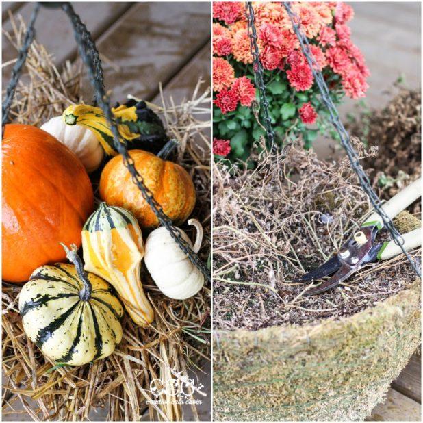 Fall Hanging Basket | CreativeCainCabin.com