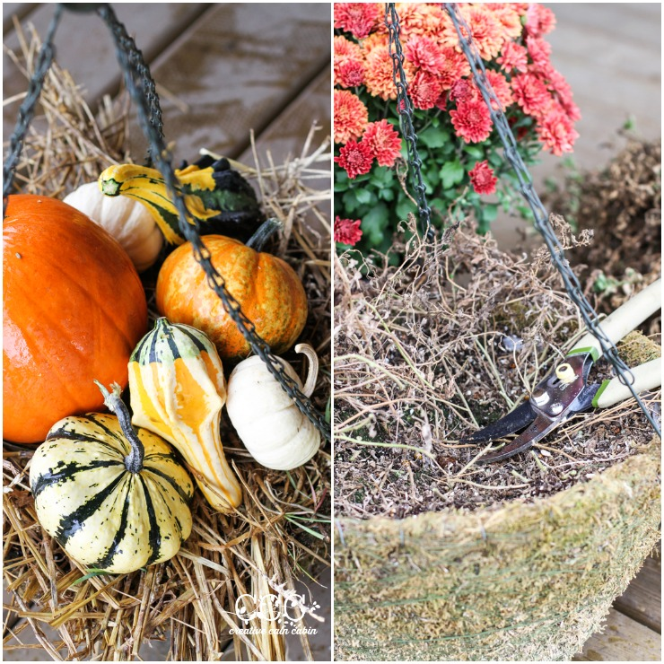 Fall Hanging Basket | CreativeCainCabin.com