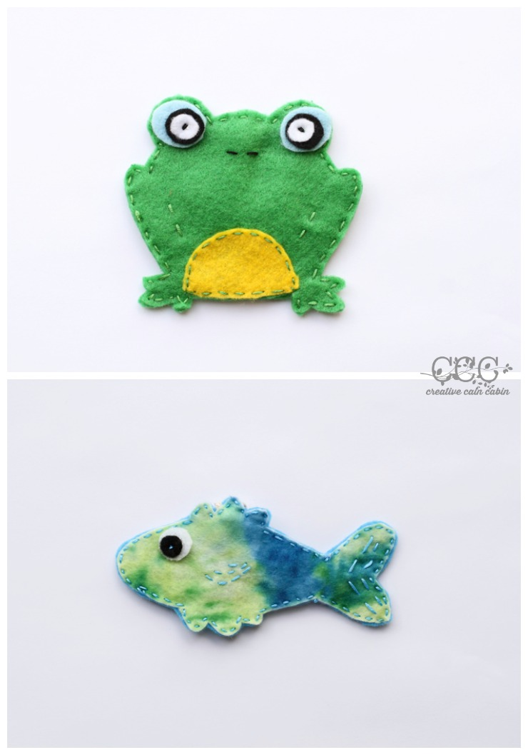 Frog and Fish Felt Patterns | CreativeCainCabin.com