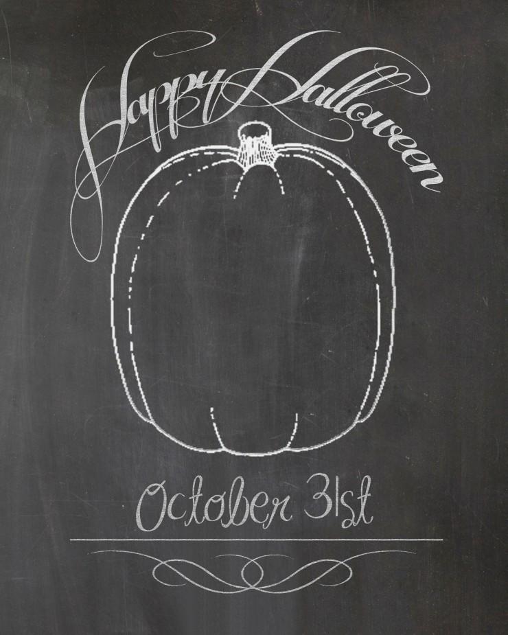 Halloween Chalkboard Printable | CreativeCainCabin.com