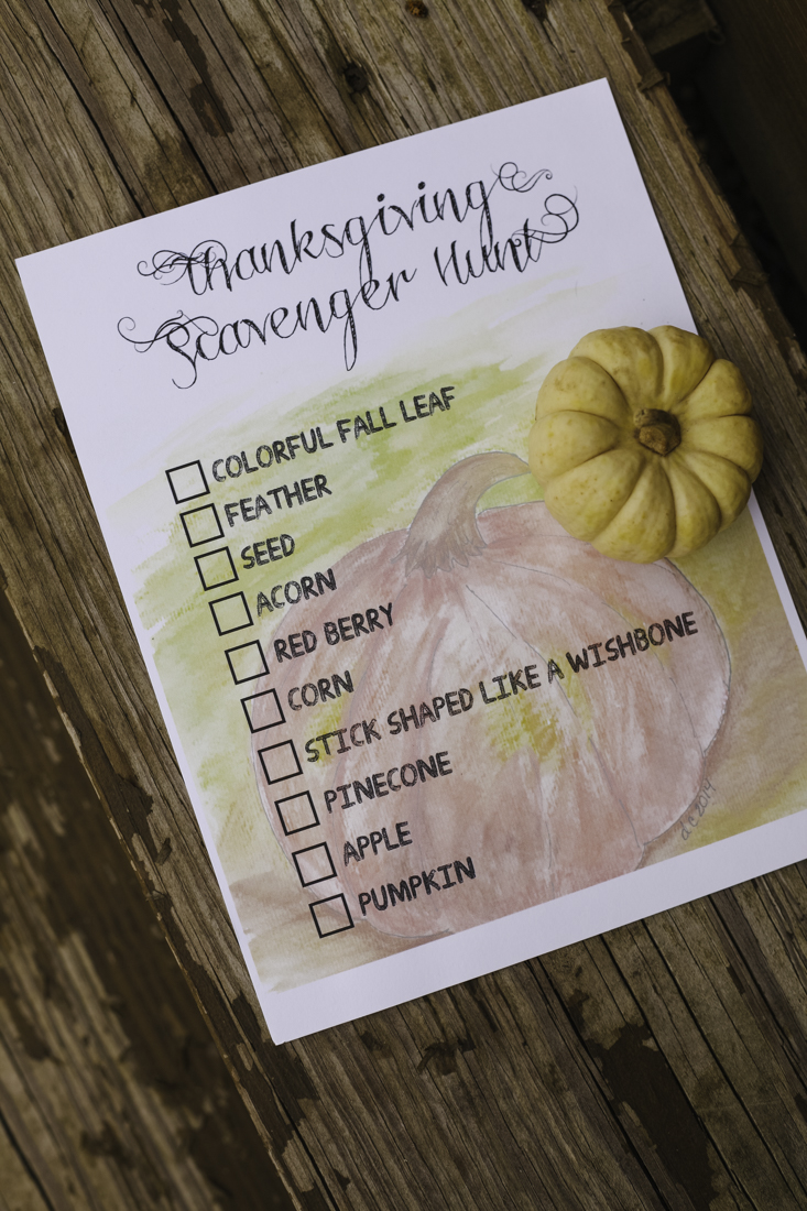 Thanksgiving Scavenger Hunt Printable | creativecaincaibn.com