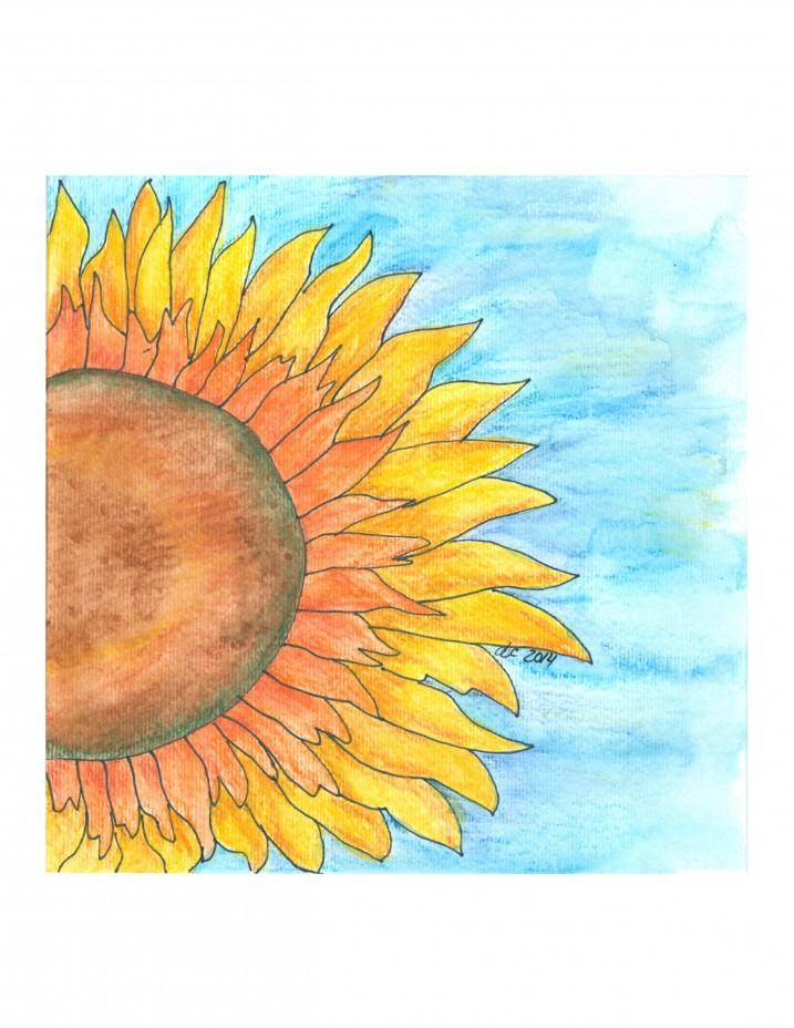 Sunflower Watercolor | Creative Cain Cabin