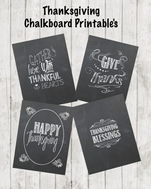 Thanksgiving Chalkboard Printables | creativecaincabin.com