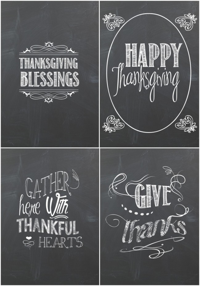 Thanksgiving Chalkboard Printables | creativecaincabin.com