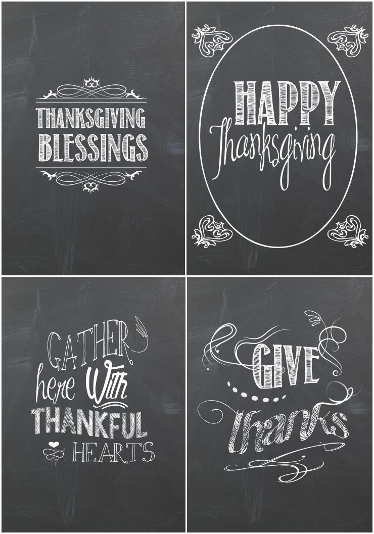 Thanksgiving Chalkboard Printables   creativecaincabin.com