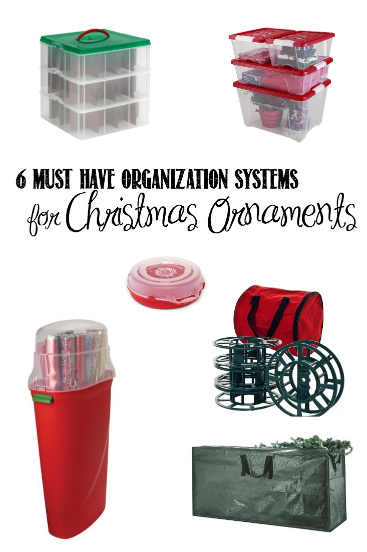 6 Must Have Organization Systems for Christmas Ornaments | creativecaincabin.com