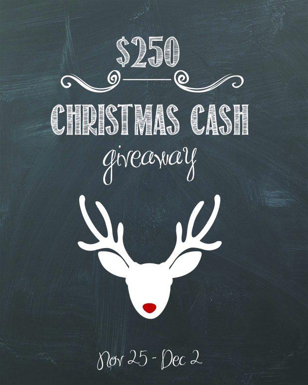 $250 Christmas Cash Giveaway | Creativecaincabin.com