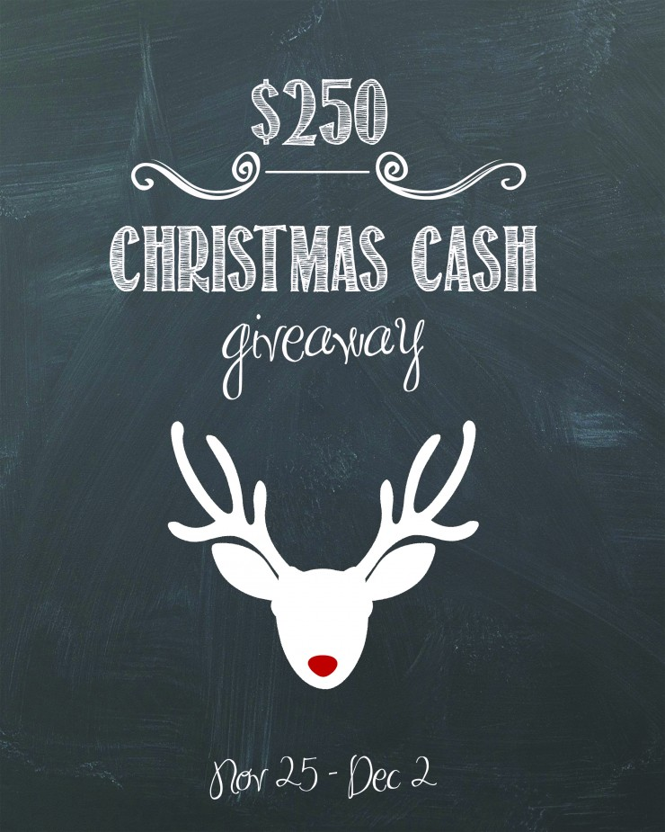 $250 Christmas Cash Giveaway | Creativecaincabin.com