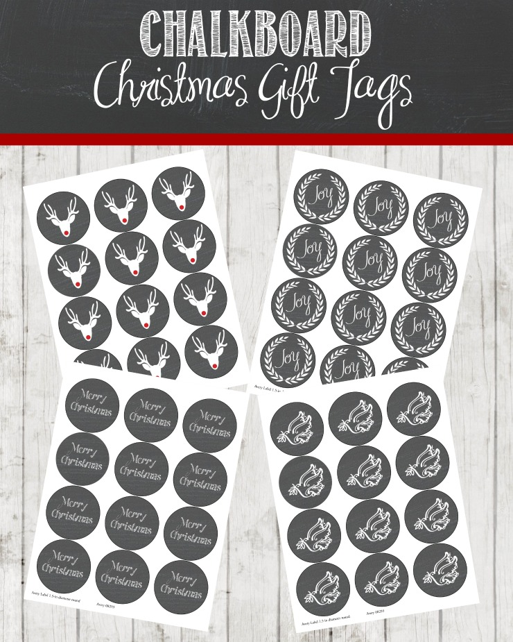 Chalkboard Christmas Gift Tags | Free Download and Print | Cretivecaincabin.com