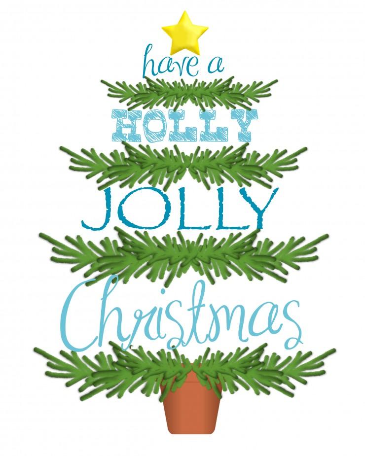 Have A Holly Jolly Christmas   Free Printable   Christmas Printable   Christmas Tree Printable   creativecaincabin.com