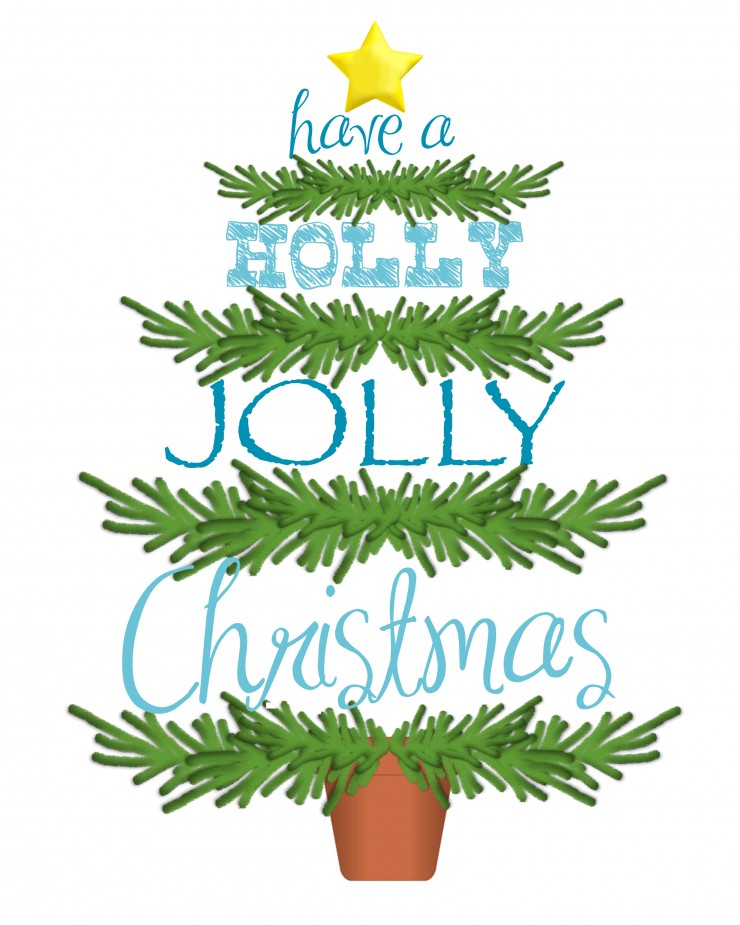 Have A Holly Jolly Christmas | Free Printable | Christmas Printable | Christmas Tree Printable | creativecaincabin.com
