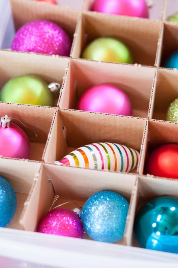 Tips for Organizing Christmas Ornaments   creativecaincabin.com