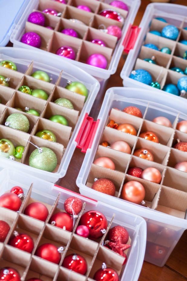 How to Organize Christmas Ornaments   creativecaincabin.com