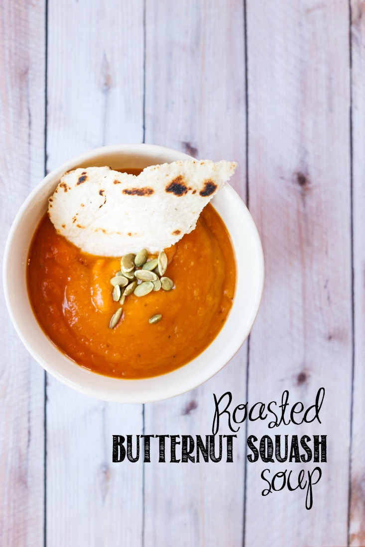 Roasted Butternut Squash Soup Recipe | Paleo Soup | creativecaincabin.com