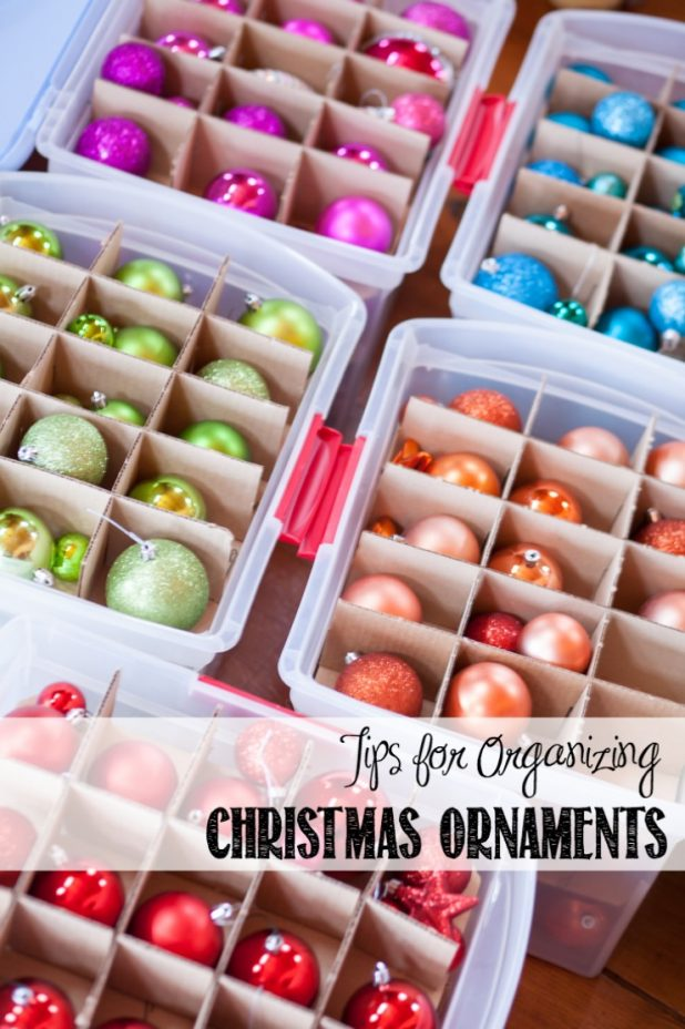 Tips for Organizing Christmas Ornaments | creativecaincabin.com