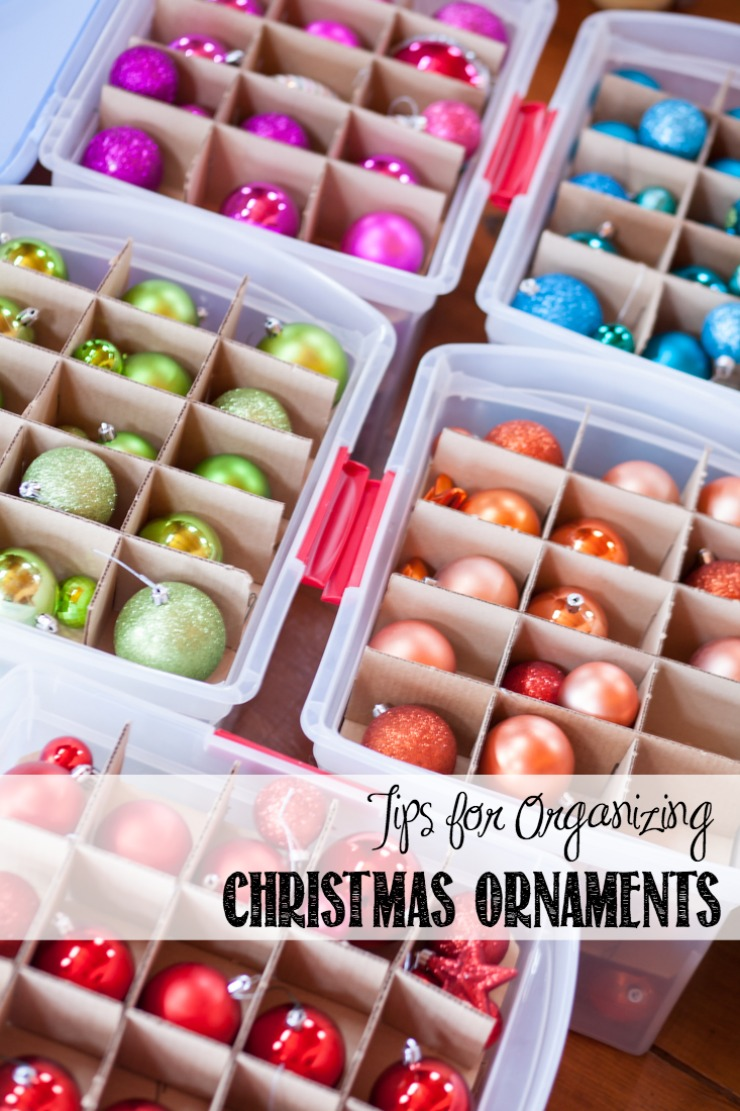 tips for organizing christmas ornaments creativecaincabincom - How To Organize Christmas Decorations