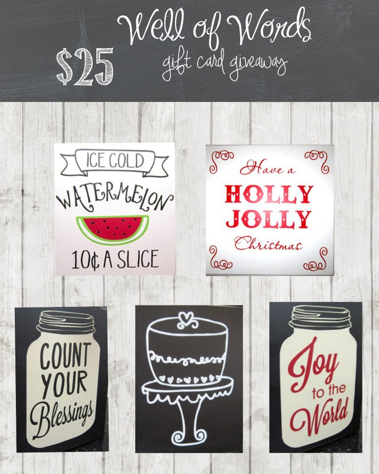 Well Of Words $25 Gift Card Giveaway | Creativecaincabin.com