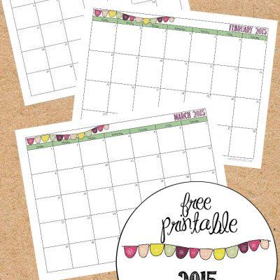 2015 Printable Blog Organizer, Calendar, Weekly Planner, Blog Planner {FREE}