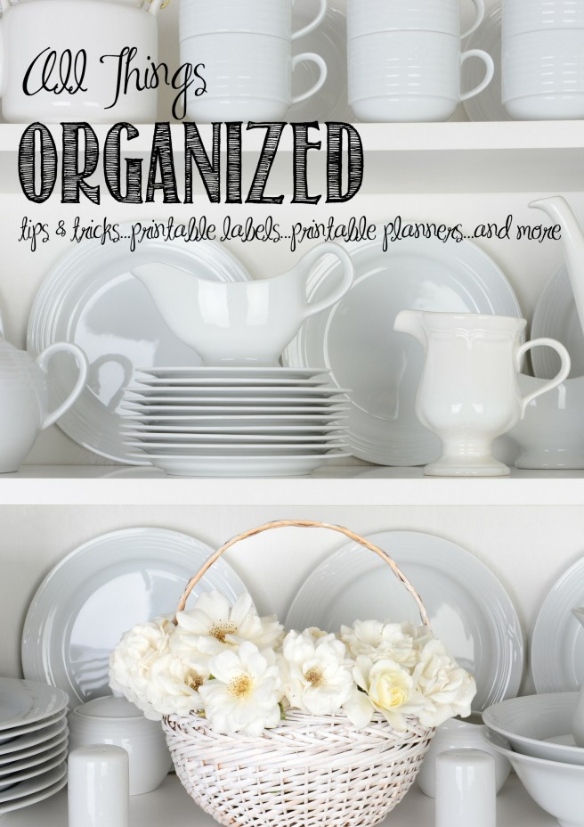 Need Some Organization Tips and Tricks? Over 50 Ideas to Help You Get Organized | creativecaincabin.com